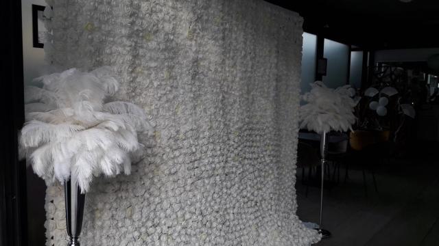 Mur floral - Palmiers plumes