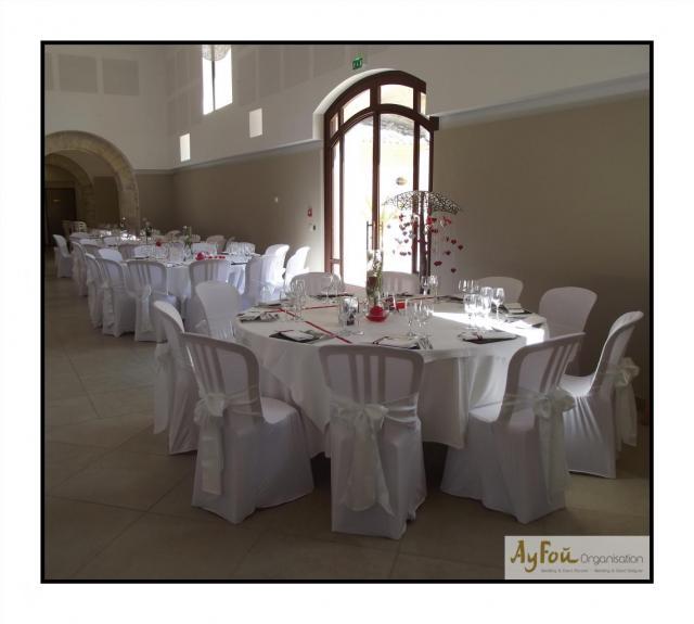 Décoration salle mariage - Montpellier 34